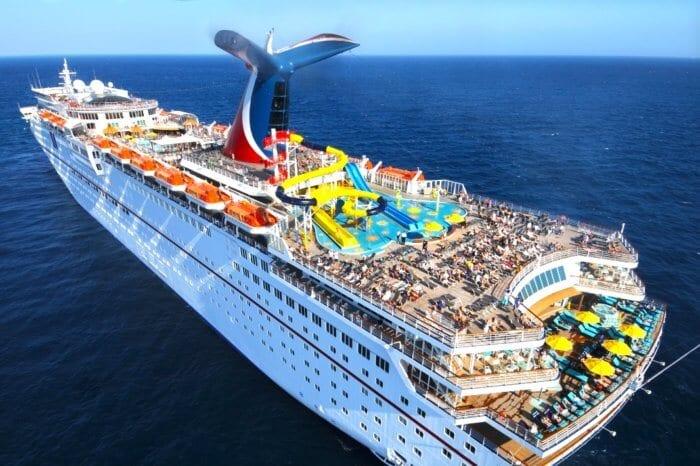 Carnival cruise ship, military line