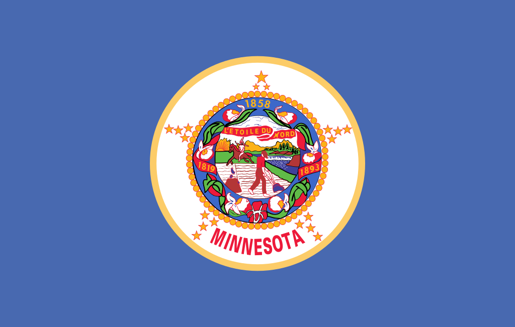 The Minnestoa state flag.