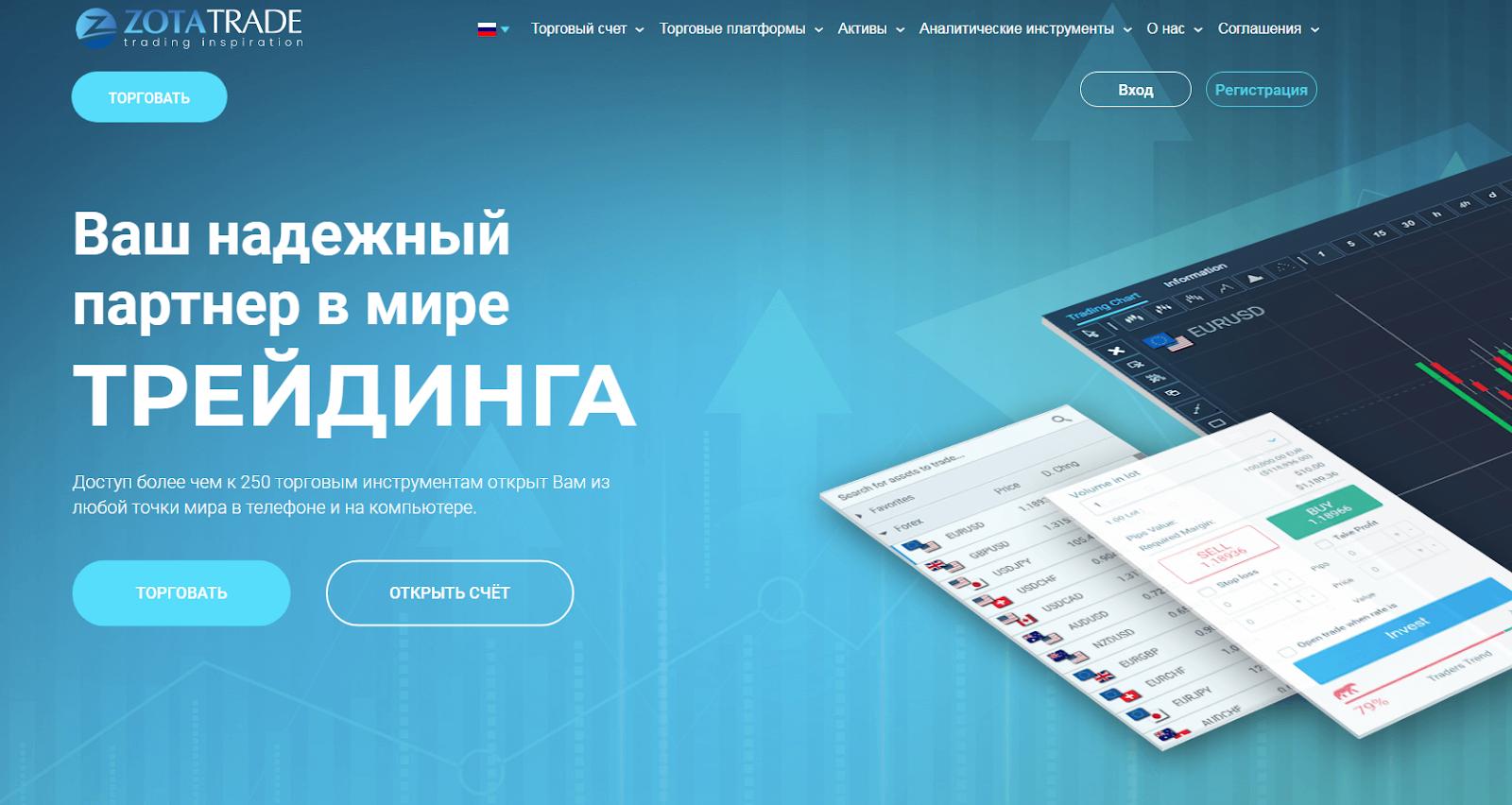 Обзор брокера ZotaTrade: тарифные планы и отзывы клиентов