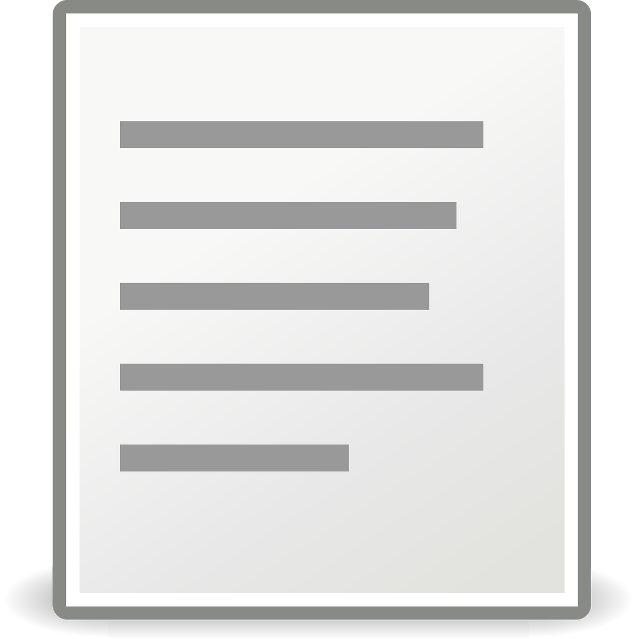 Document align left icon