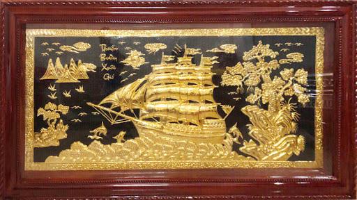 Tranh thuận buồm xuôi gió món quà ý nghĩa tặng đối tác trong dịp Tết