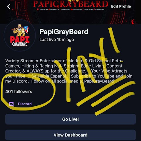400 Followers on Twitch. Yay