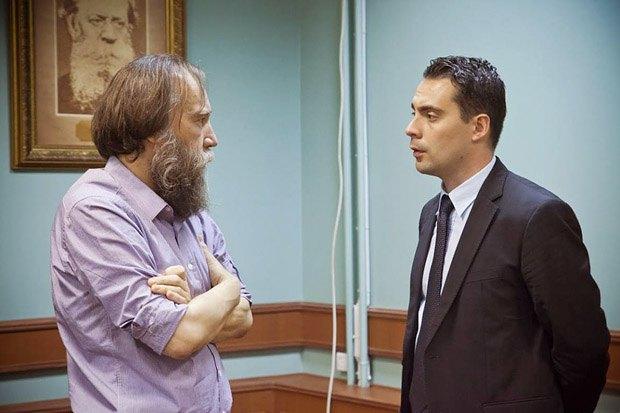 Идеолог евразийства Александр Дугин и Габор Вона в Москве, 2013 год