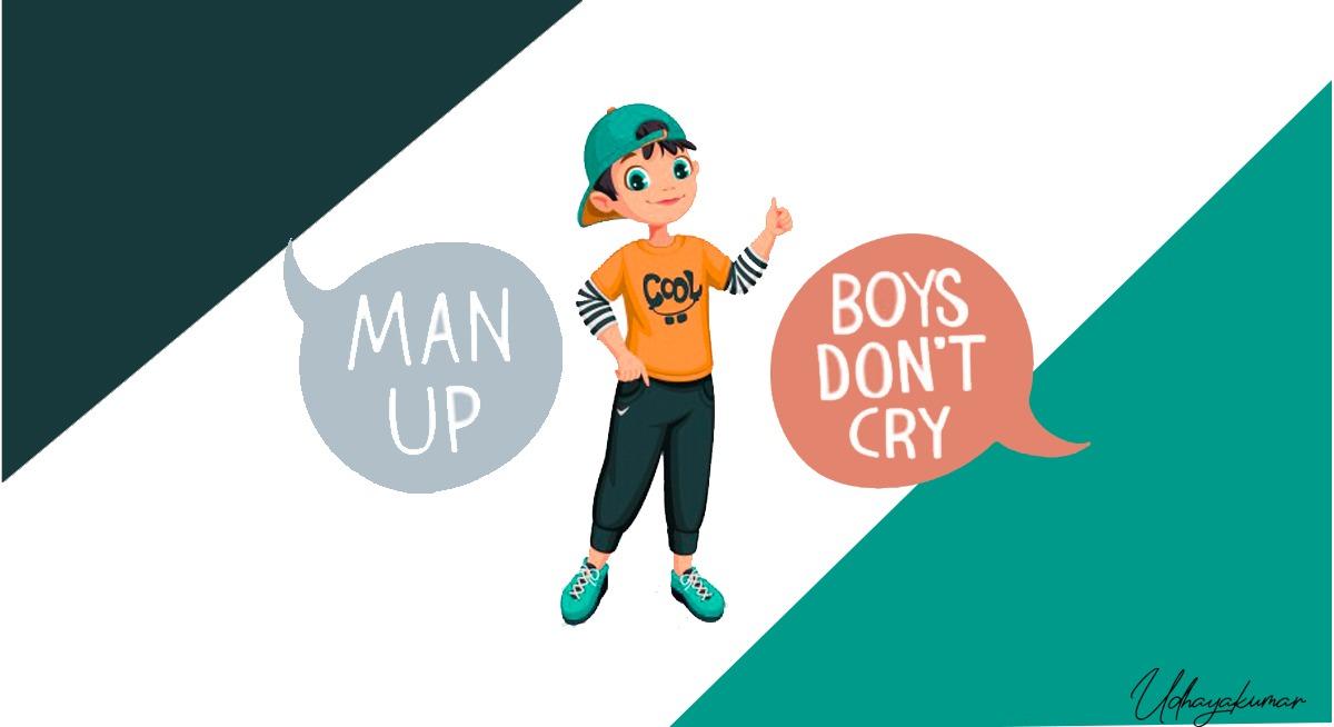 boys don't cry illustration