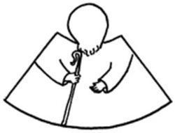personnage d'Abraham en papier