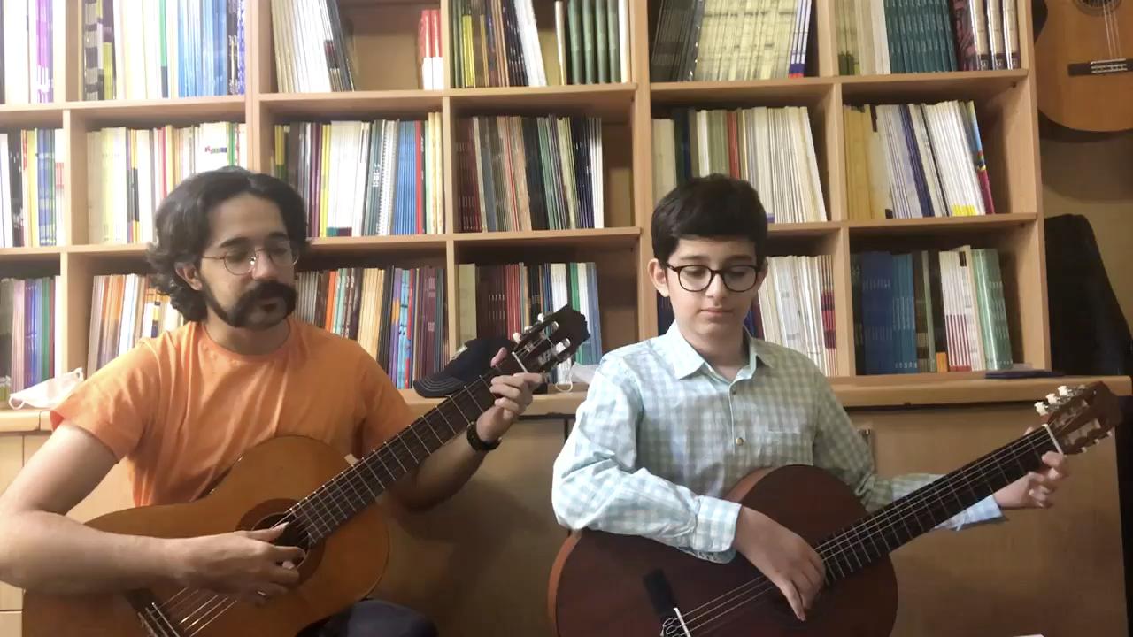 سوغاتی دوره آرتین اسدی هنرجوی متوسطه گیتار شاهین پورعابدینی