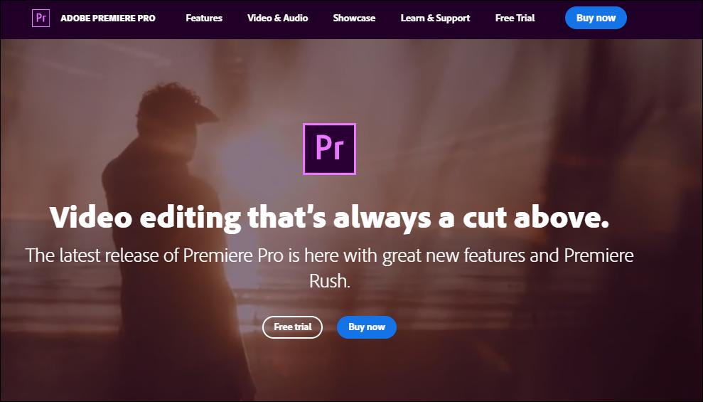 Adobe Premiere Pro Video Editing Software