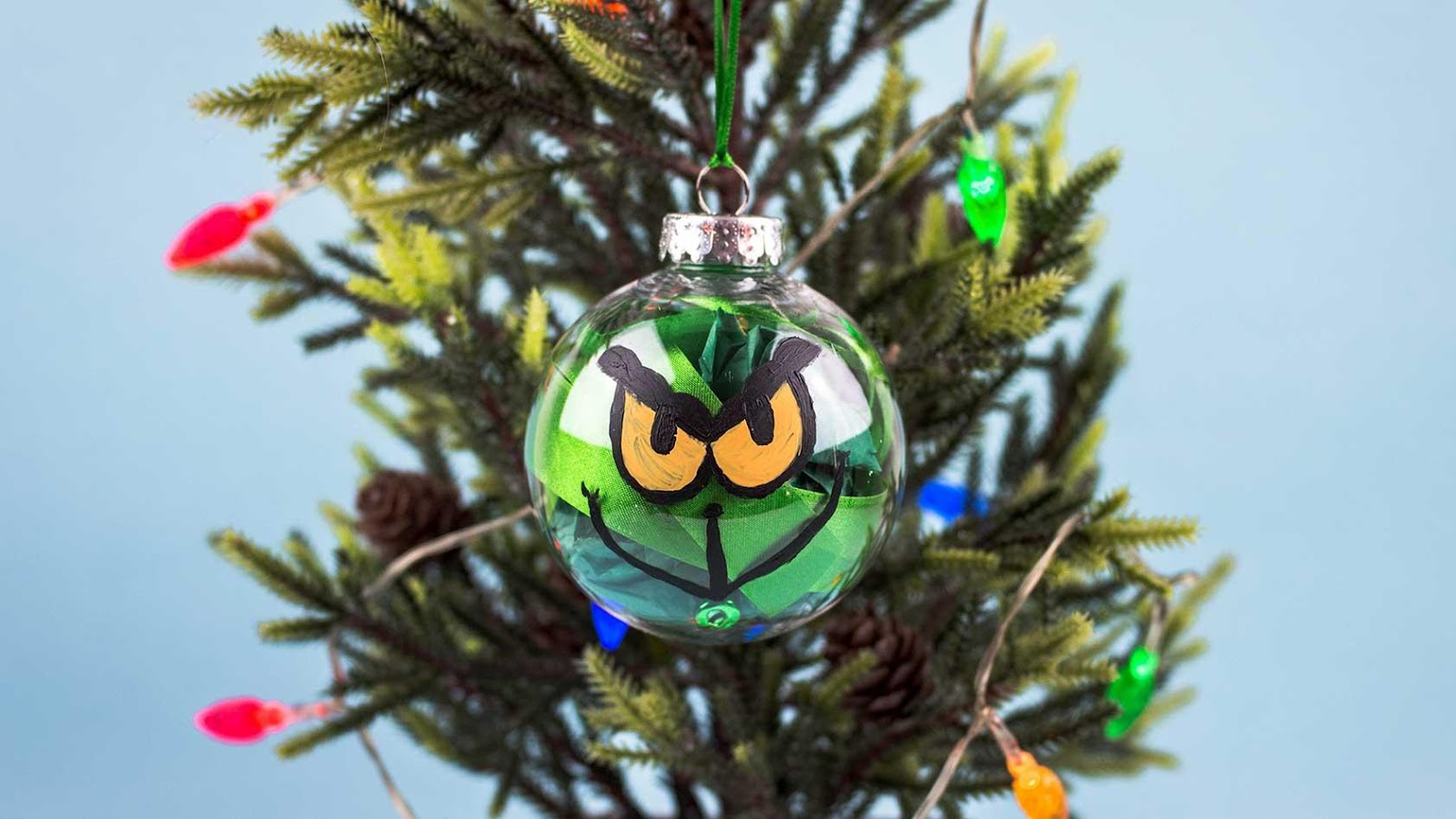DIY Grinch ornament