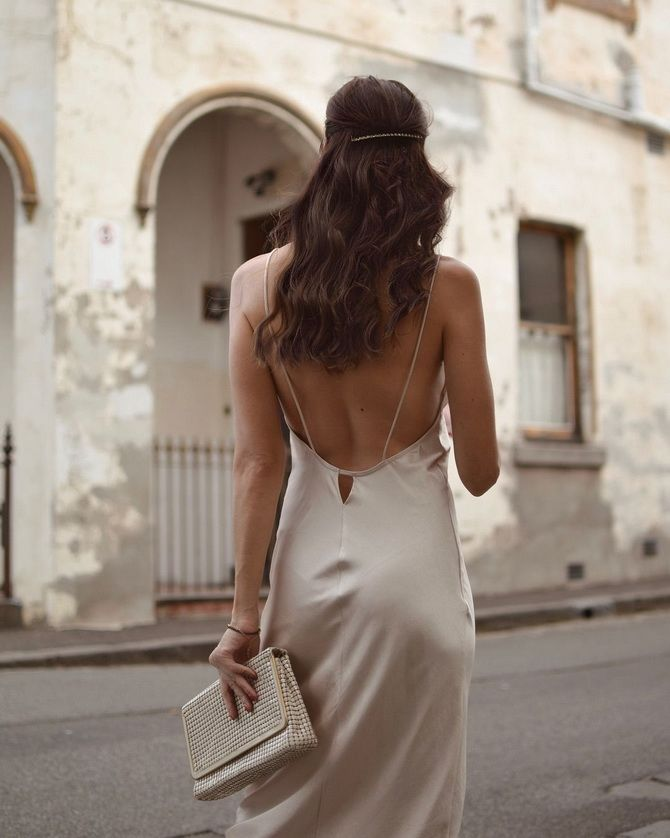 dress with a cutout back