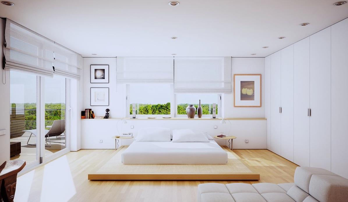 Minimalist Luxury Bedroom with Floor Bed