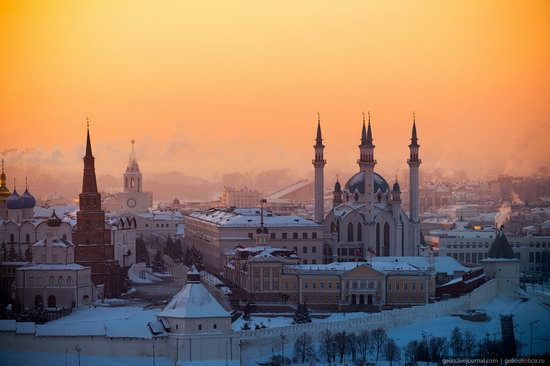 Winter in Kazan, Russia - the view from above, photo 2