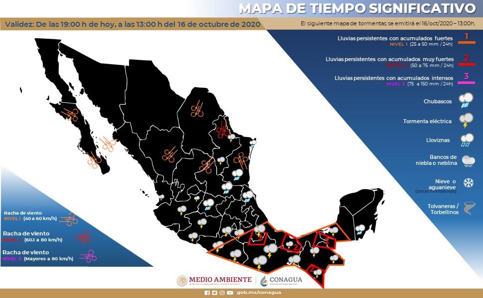 Mapa del clima de la República Mexicana