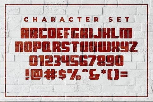 Rounded block fonts