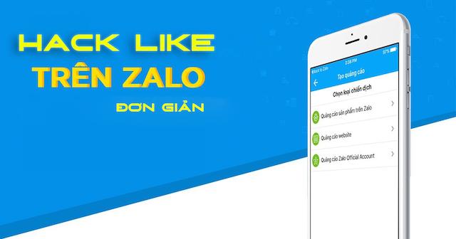 Zalo là ứng dụng mạng xã hội có thể thực hiện hack like