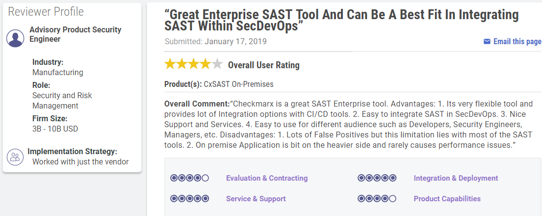 CxSAST, Checkmark Static Application Security Testing