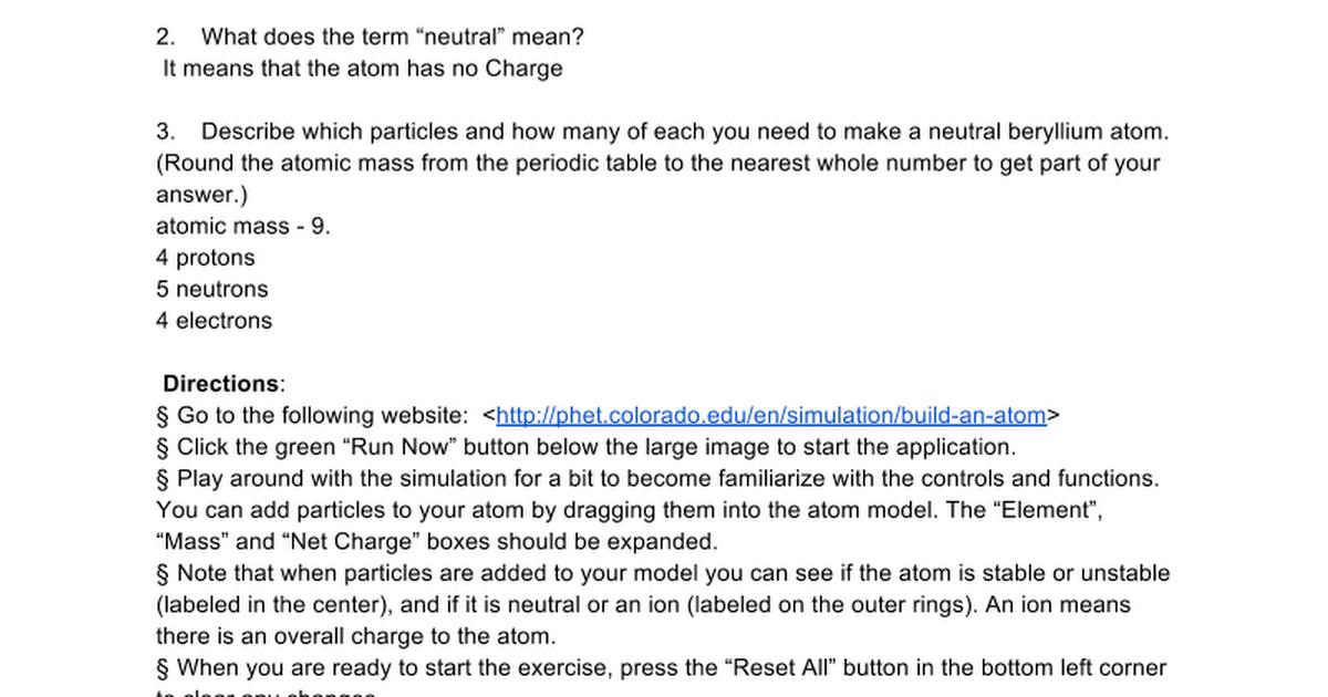 Build an atom simulator ws google docs urtaz Image collections