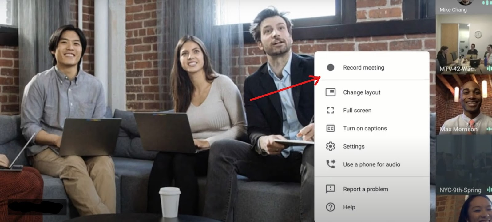 Google Meet Tips and Tricks: Record Meetings using google meet options found in the settings