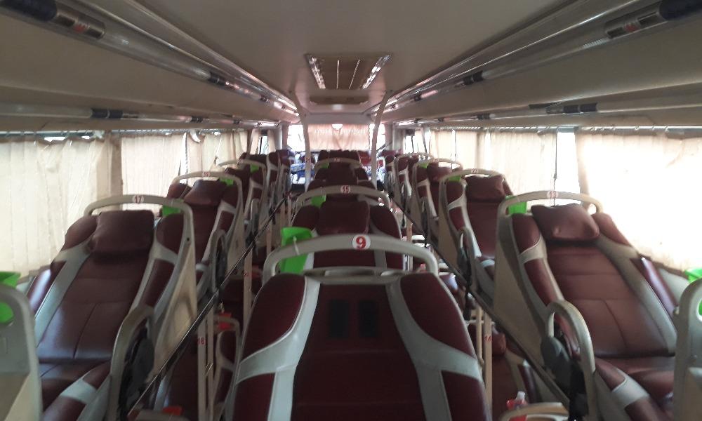 Nội thất xe Út Vân đi Bạc Liêu từ Sài Gòn
