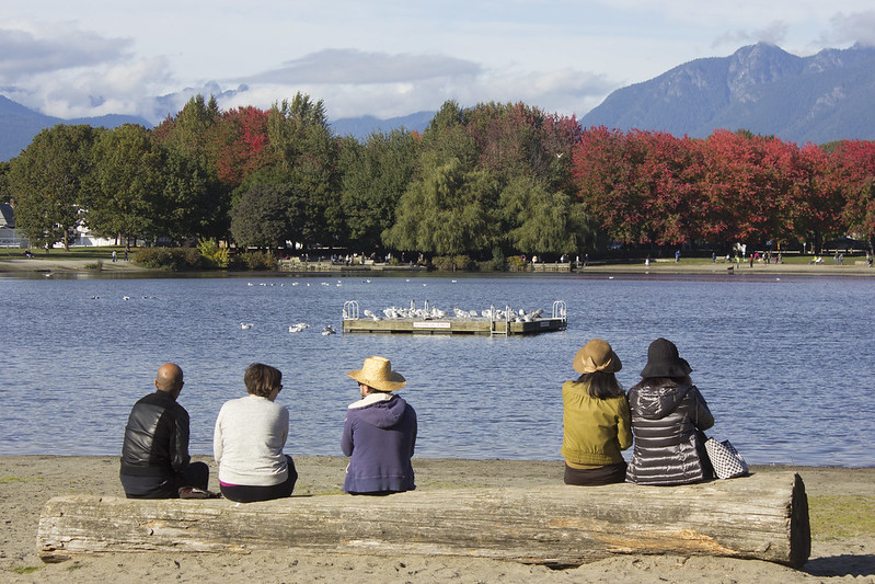 people relaxing at Trout Lake Park