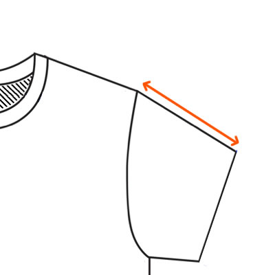 How to find a t-shirt sleeve length measurement.