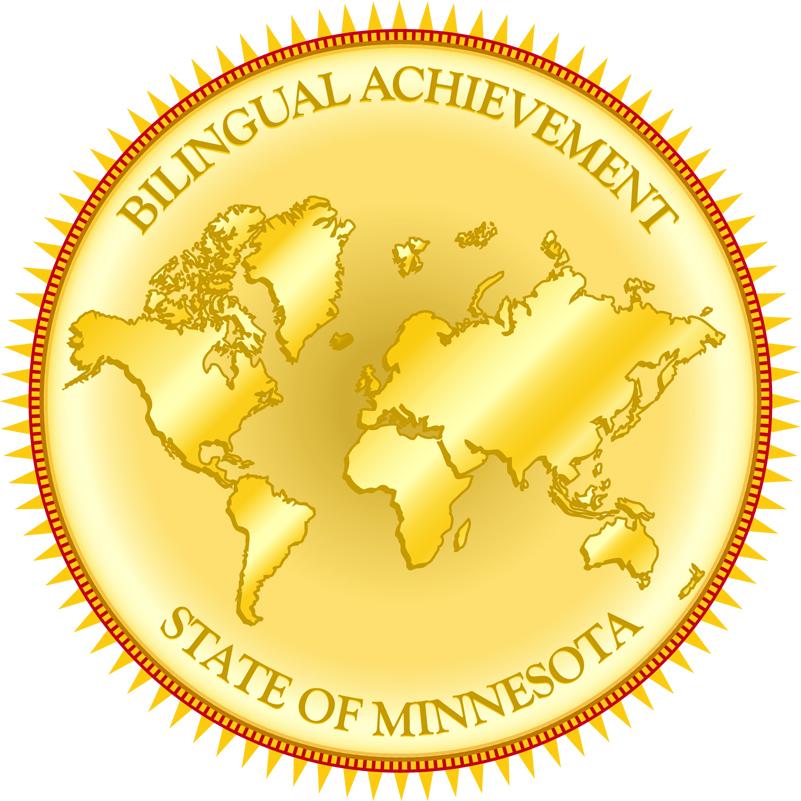 Gold Bilingual Achievement Seal
