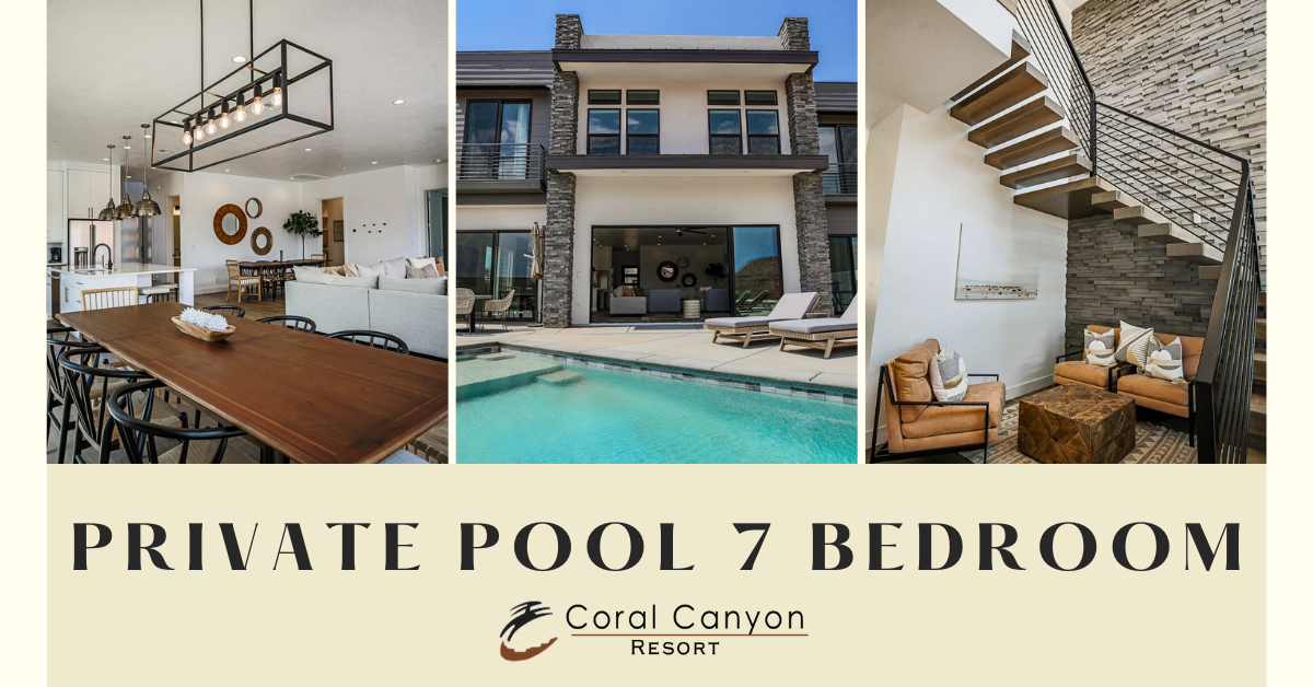 private pool 7 bedroom Coral Canyon Resort