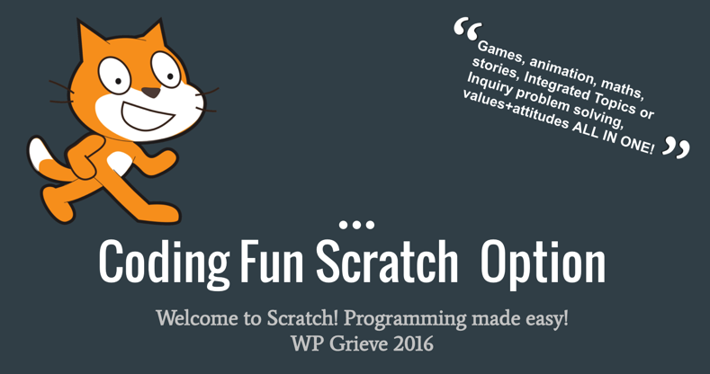 interactive presentation for teachers and pupils to help use scratch