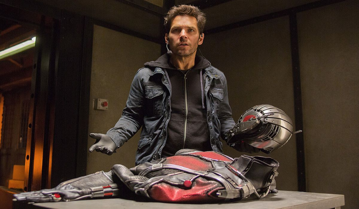Scott Lang with the ant-man suit