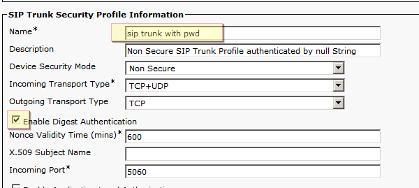 UC Valley: SIP trunk authentication between ccm and vg