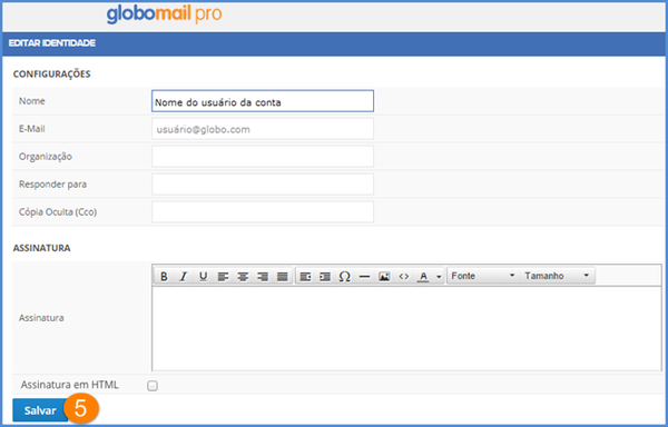 Editar e configurar uma identidade (Foto: Editar e configurar uma identidade)
