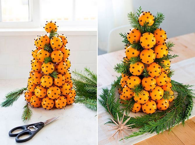 Tangerine decorations for New Year 5