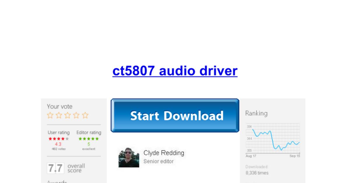 Ensoniq es1371 sound card driver download.