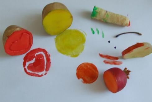 zöldségnyomda ötletek gyerekeknek
