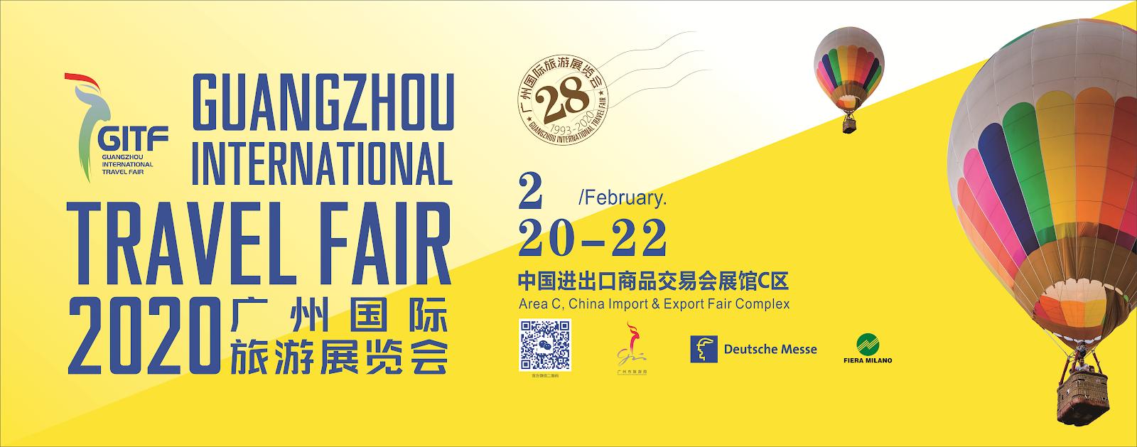 Guangzhou International Travel Fair – Guangzhou, China February 21-23, 2019; February 20-22, 2020