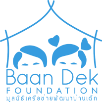 คำอธิบาย: C:\Users\top\Desktop\Baan Dek Foundation logo - Blue with no background - small.png