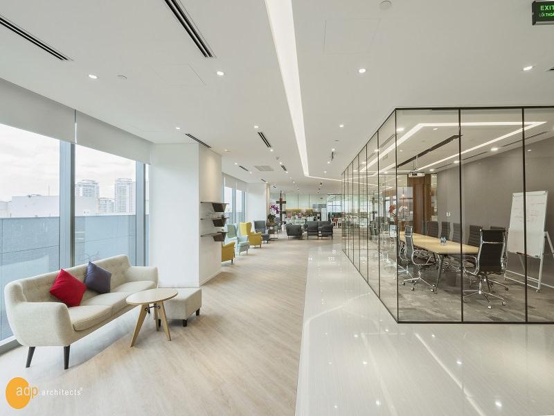 Thiết kế không gian nội thất văn phòng tạo hứng thú cho nhân viên làm việc