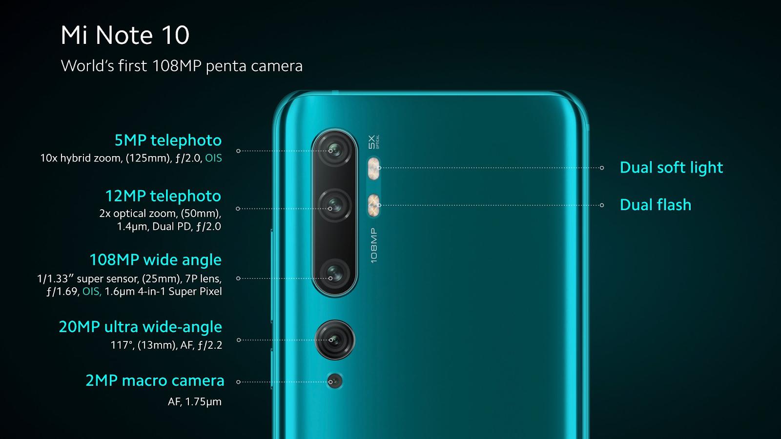 Mi CC 9 Pro (Mi Note 10) 相机参数