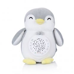 Успокояваща плюшена играчка с проектор и музика Пингвинче