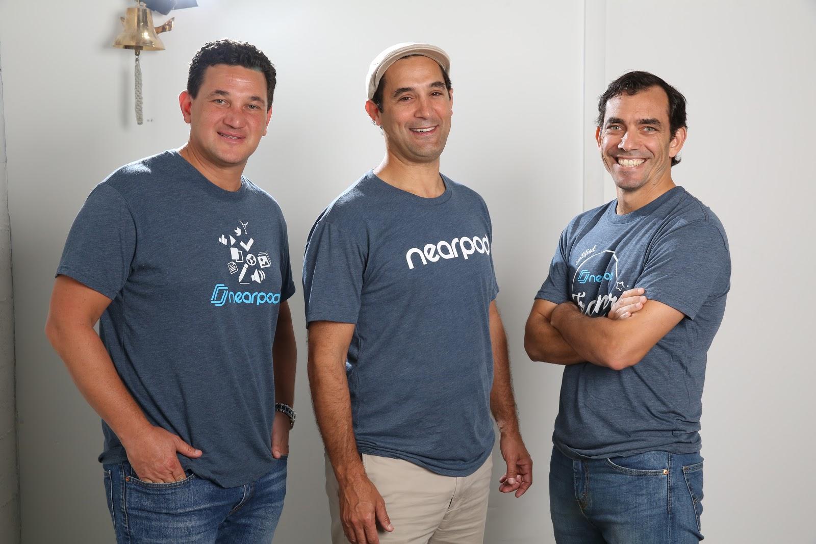 Nearpod leaders Felipe Sommer, Emiliano Abramzon, and Pep Carrera