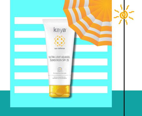 best sunscreen for oily face- Kaya Ultra Light Aquagel Sunscreen Spf 25