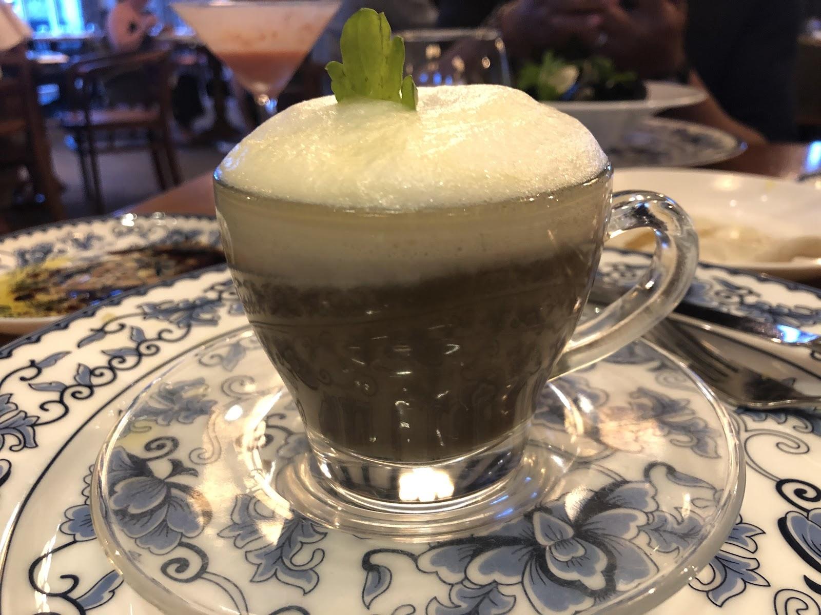 Mushroom Cappuccino at Mi Carisa