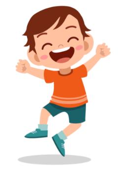 Enfant sautant de joie