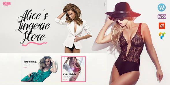 1. Alice's | Lingerie Store and Fashion Boutique WordPress Theme