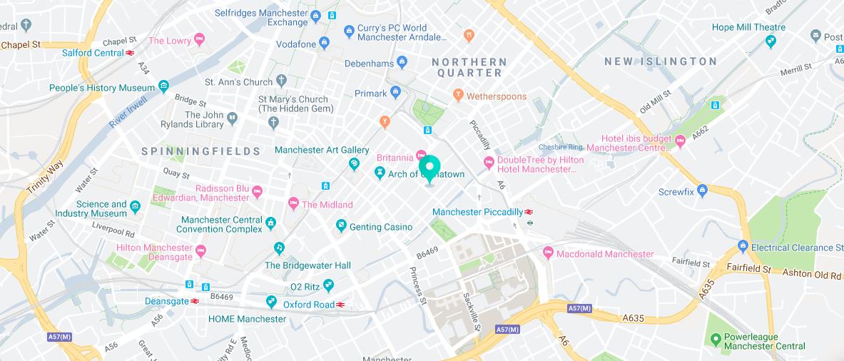 EC English Manchester - mapa da localização