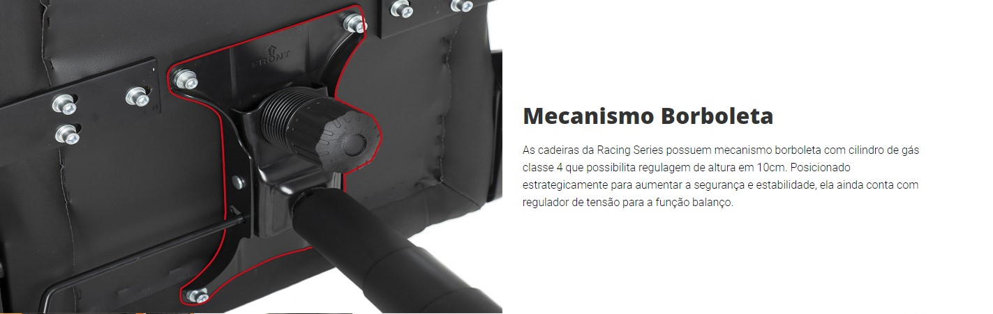 Cadeira Gamer DT3 Elise Racing Series Laranjado