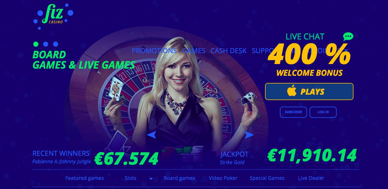 Casino Fiz homepage