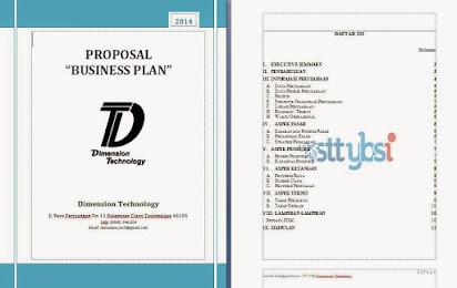 Contoh Proposal Business Plan Dalam Bahasa Inggris
