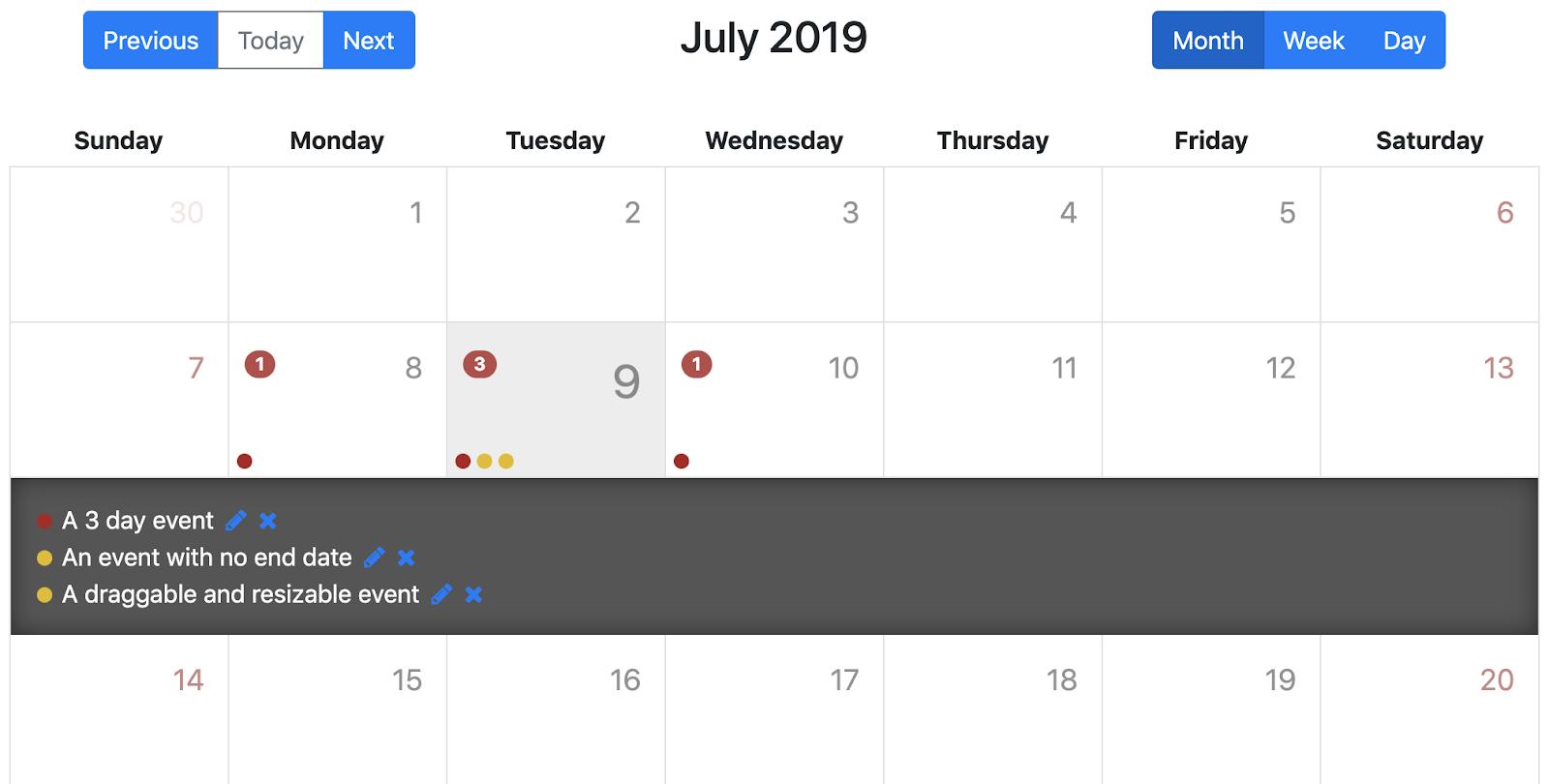Angular Calendar