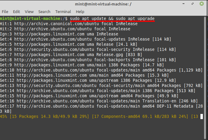 Install Zenmap in Linux Mint update and upgrade. Source: nudesystems.com