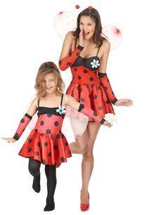 Déguisement couple coccinelle mère et fille : Déguisement coccinelle sexy femmeCe déguisementde coccinelle sexy se compose d'une robe, d'une paire de manches, d'une paire d'ailes et d'un serre-tête...